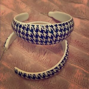 Houndstooth Hoop Earrings